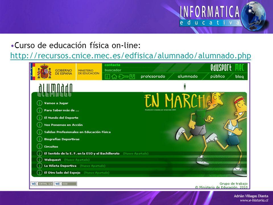 Curso de educación física on-line: