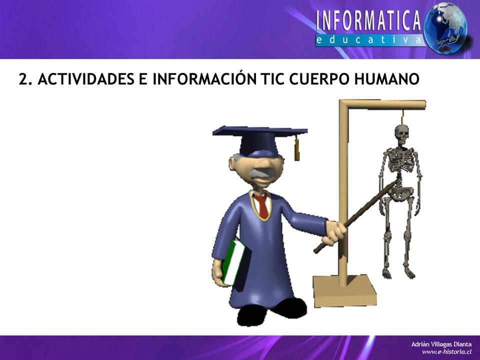 2. ACTIVIDADES E INFORMACIÓN TIC CUERPO HUMANO