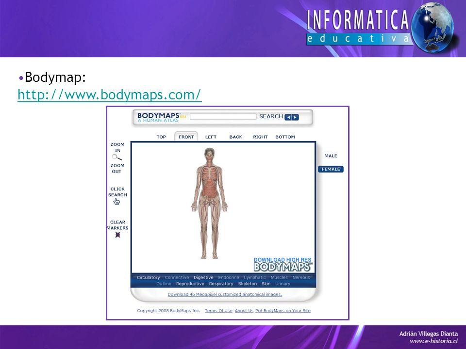 Bodymap: http://www.bodymaps.com/