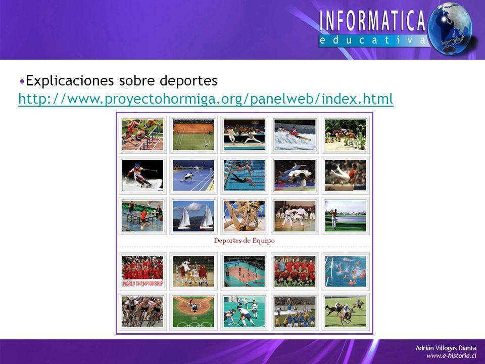 Explicaciones sobre deportes