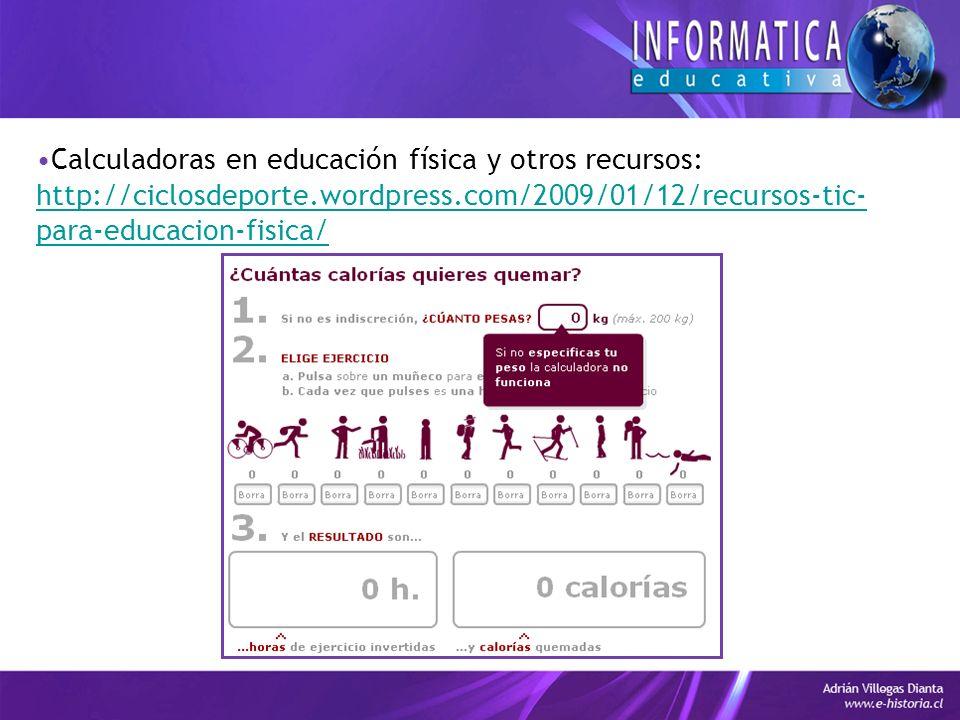 Calculadoras en educación física y otros recursos:
