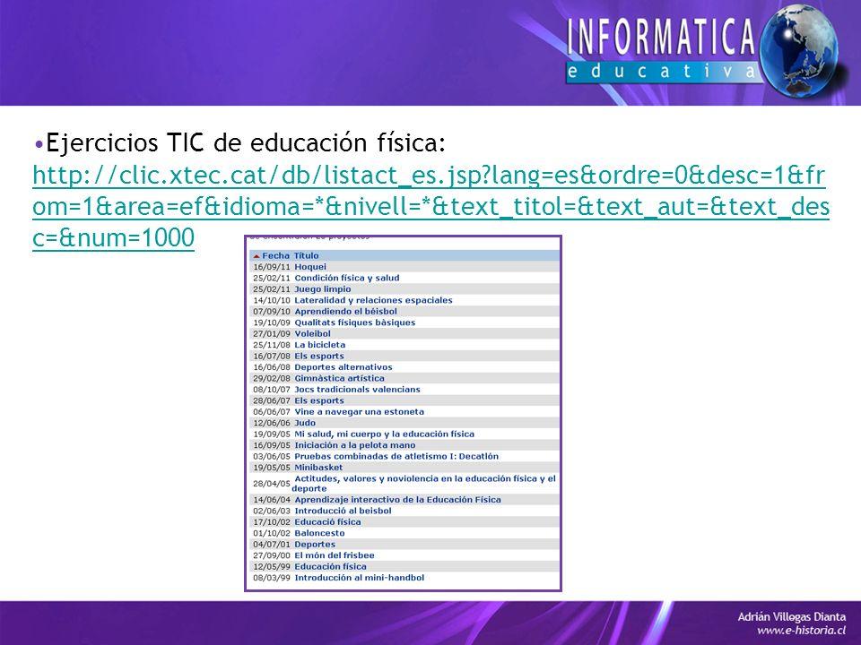 Ejercicios TIC de educación física: