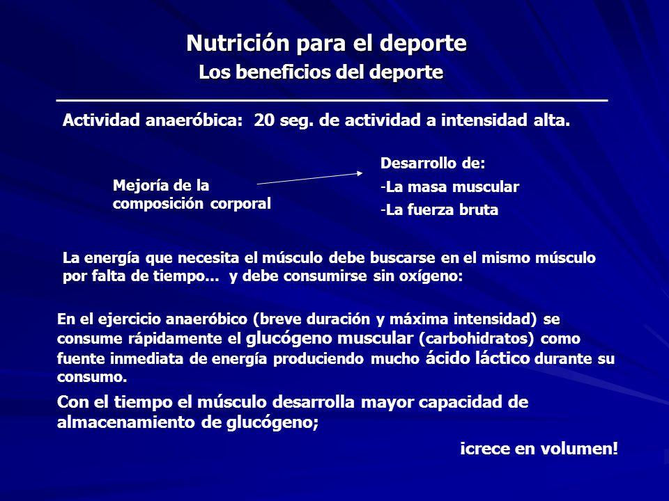 Nutrición para el deporte
