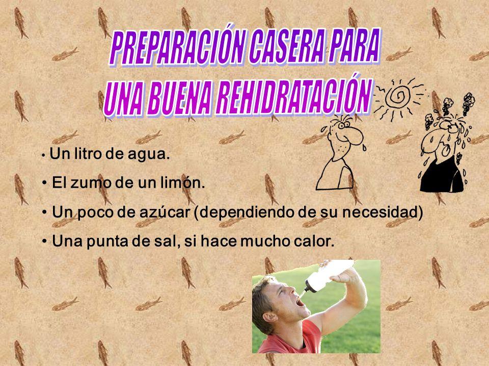 PREPARACIÓN CASERA PARA UNA BUENA REHIDRATACIÓN