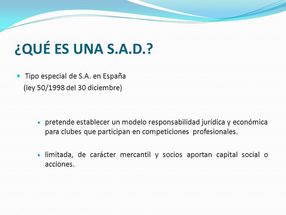 ¿QUÉ ES UNA S.A.D. Tipo especial de S.A. en España