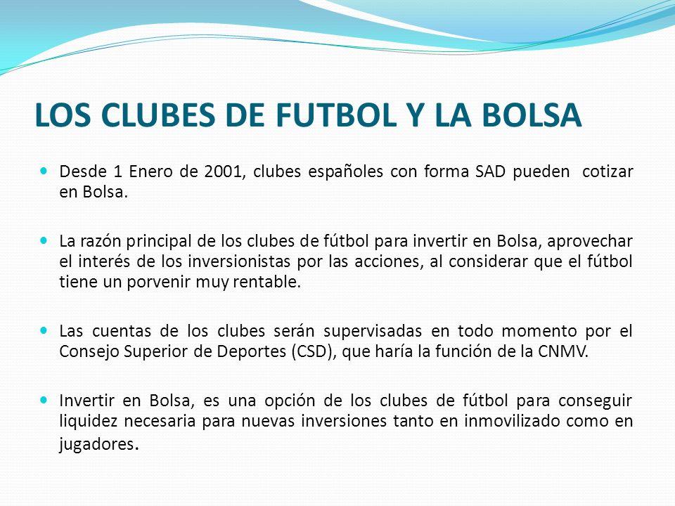 LOS CLUBES DE FUTBOL Y LA BOLSA