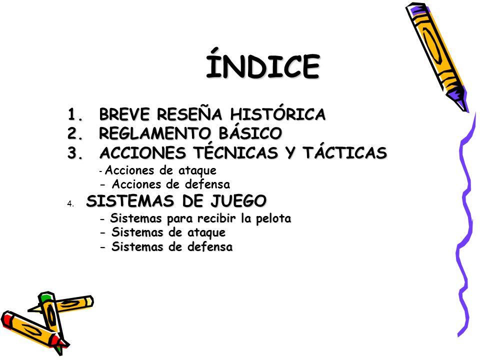ÍNDICE BREVE RESEÑA HISTÓRICA REGLAMENTO BÁSICO