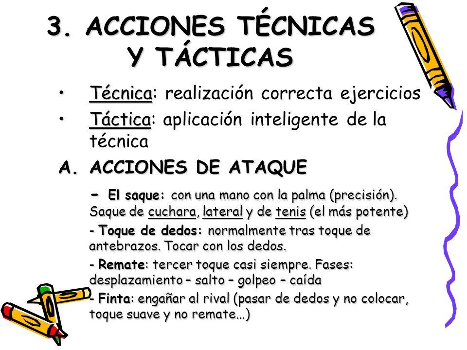 3. ACCIONES TÉCNICAS Y TÁCTICAS