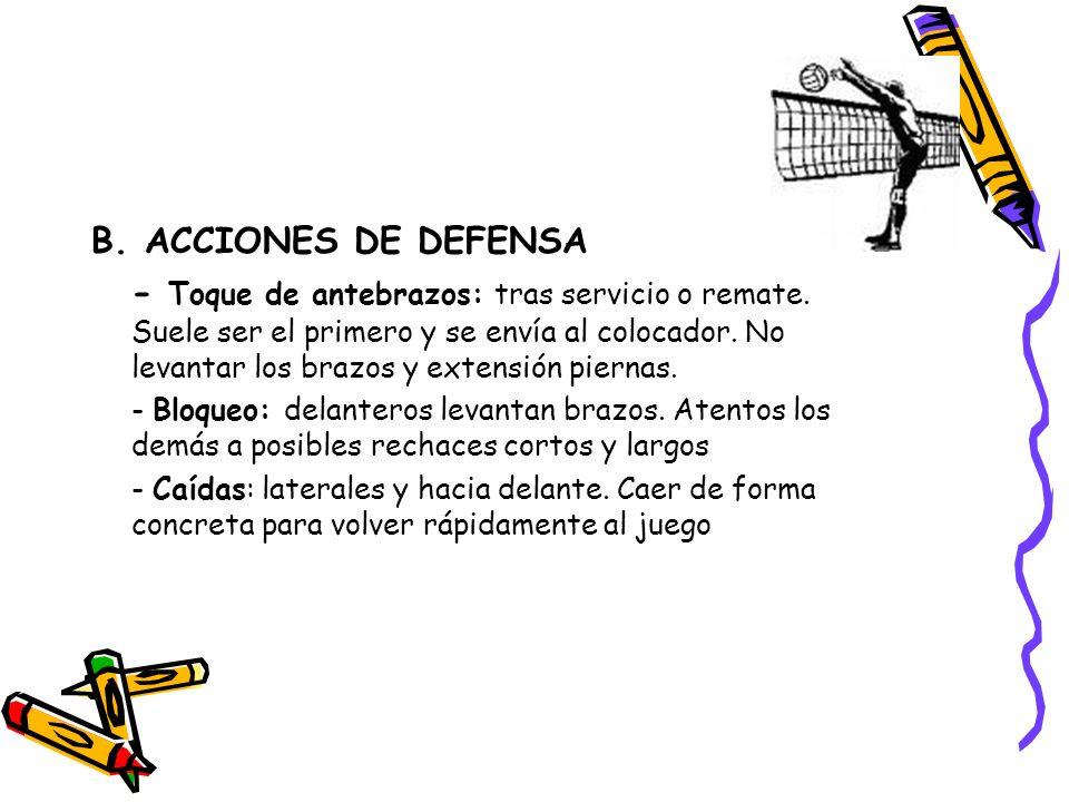 B. ACCIONES DE DEFENSA