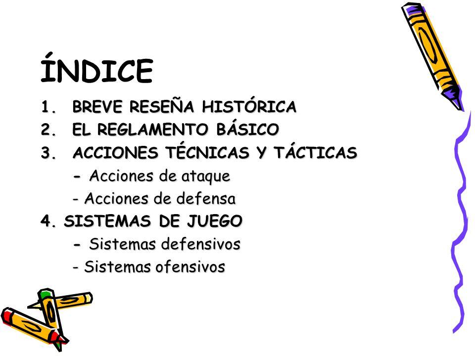 ÍNDICE BREVE RESEÑA HISTÓRICA EL REGLAMENTO BÁSICO