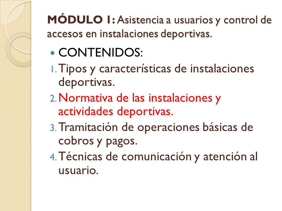Tipos y características de instalaciones deportivas.