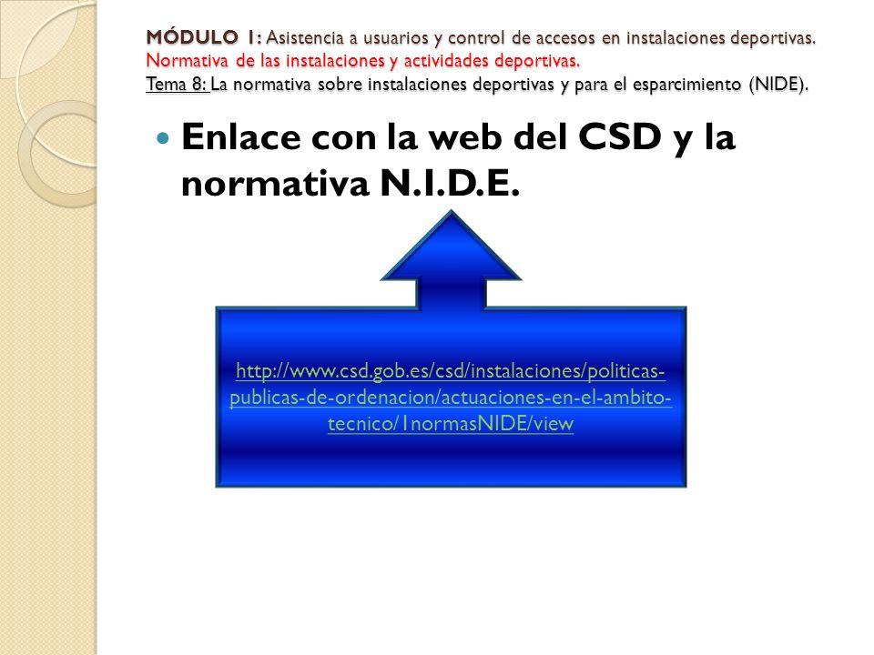 Enlace con la web del CSD y la normativa N.I.D.E.
