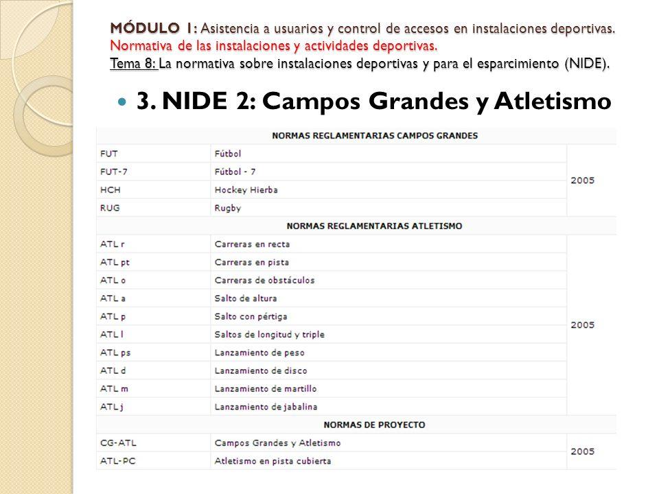 3. NIDE 2: Campos Grandes y Atletismo