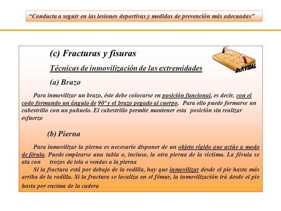 (c) Fracturas y fisuras