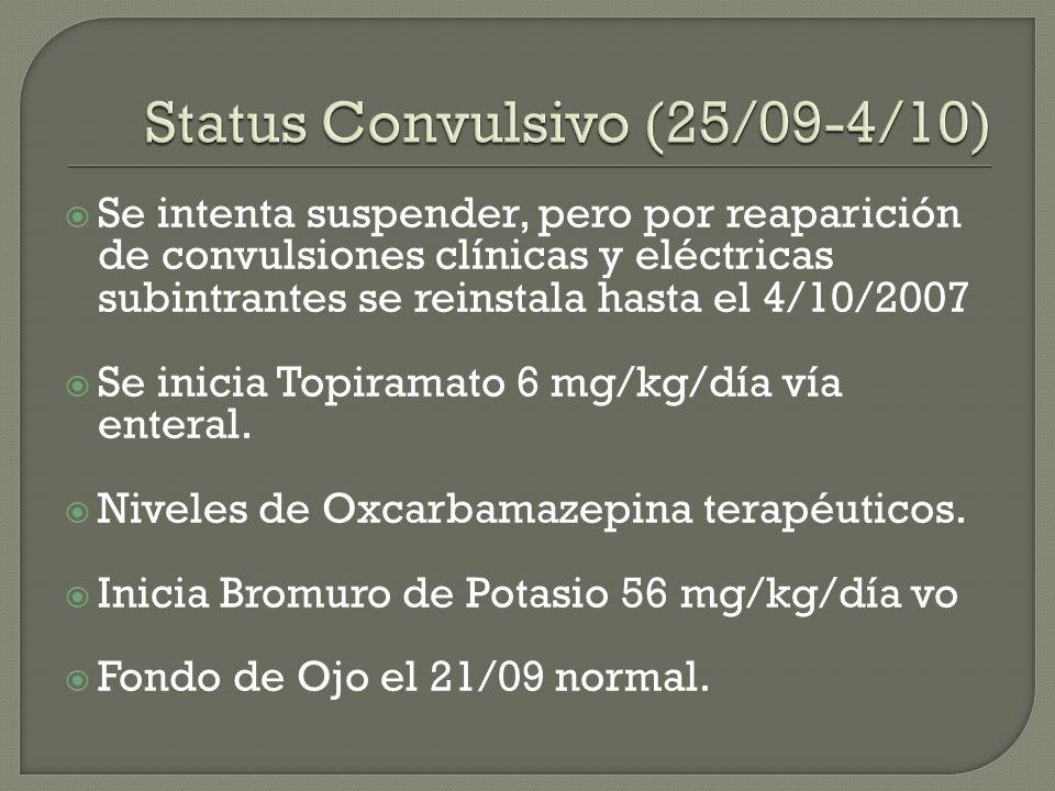 Status Convulsivo (25/09-4/10)