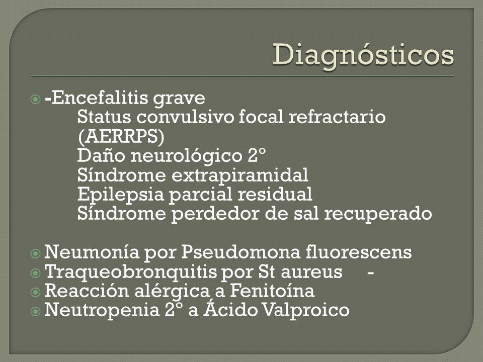 Diagnósticos -Encefalitis grave