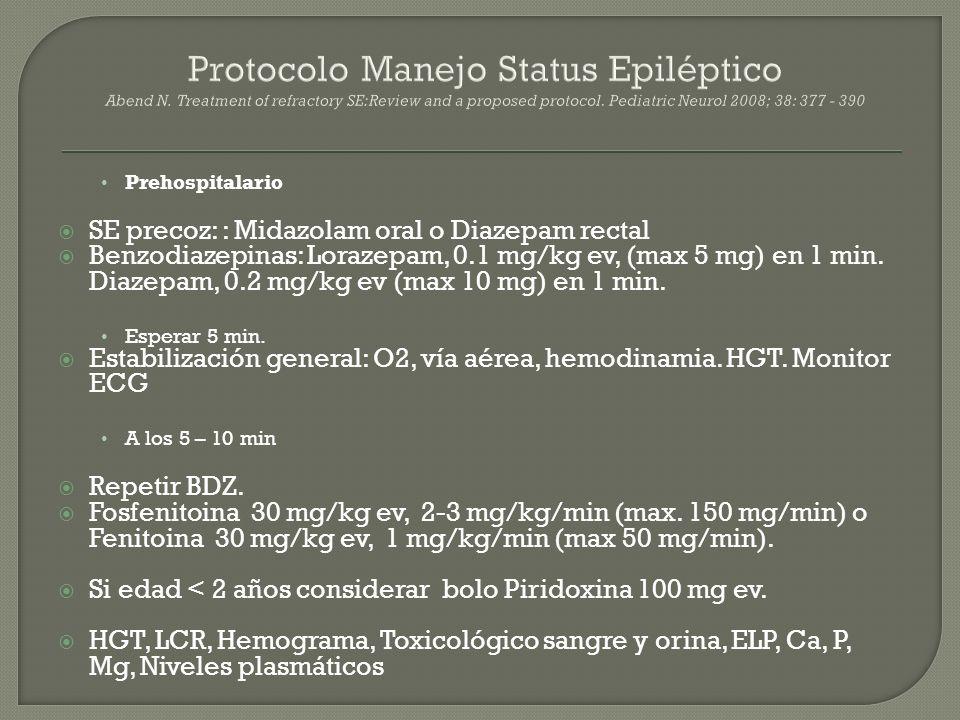Protocolo Manejo Status Epiléptico Abend N