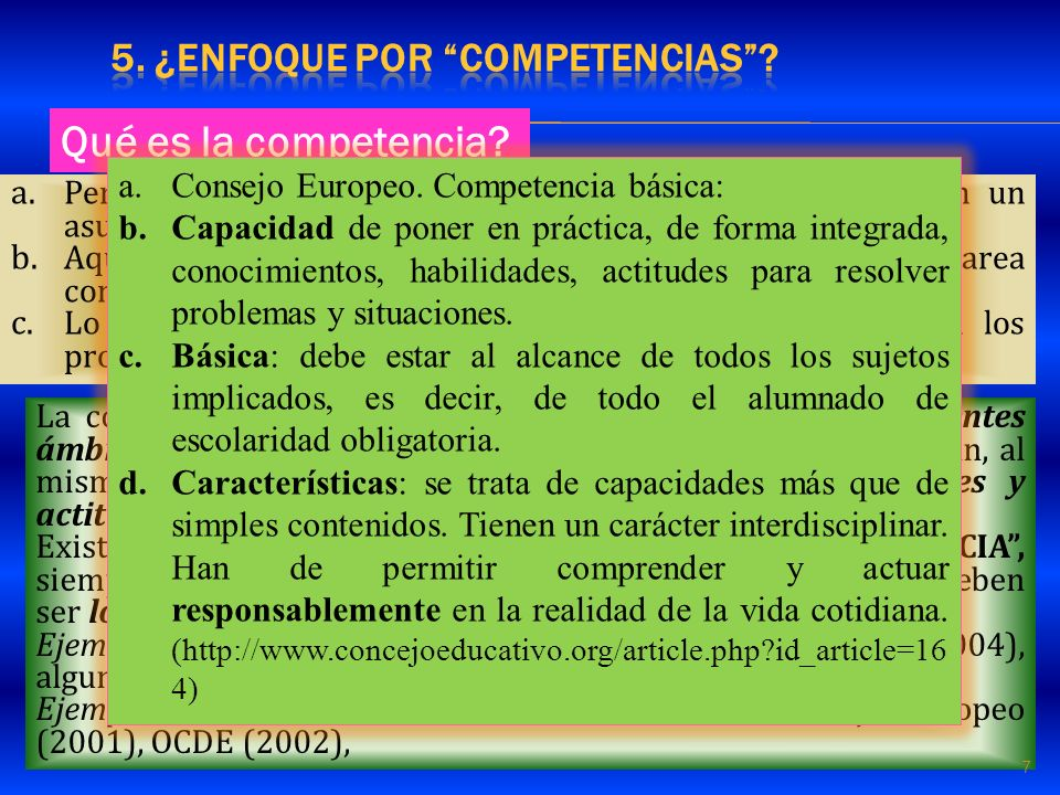 5. ¿enfoque por COMPETENCIAS