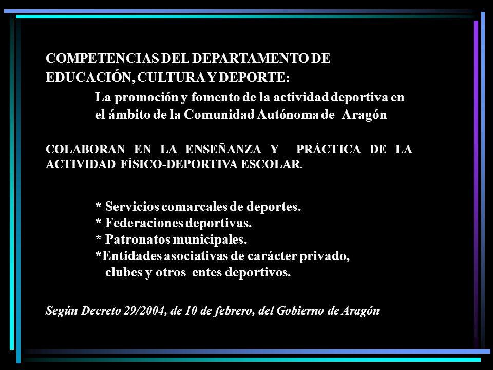 COMPETENCIAS DEL DEPARTAMENTO DE EDUCACIÓN, CULTURA Y DEPORTE:
