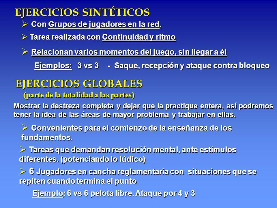 EJERCICIOS SINTÉTICOS