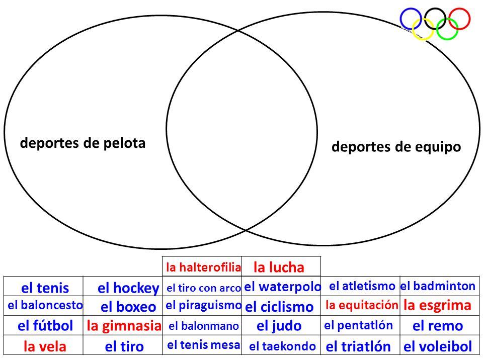 deportes de pelota deportes de equipo la lucha el tenis el hockey