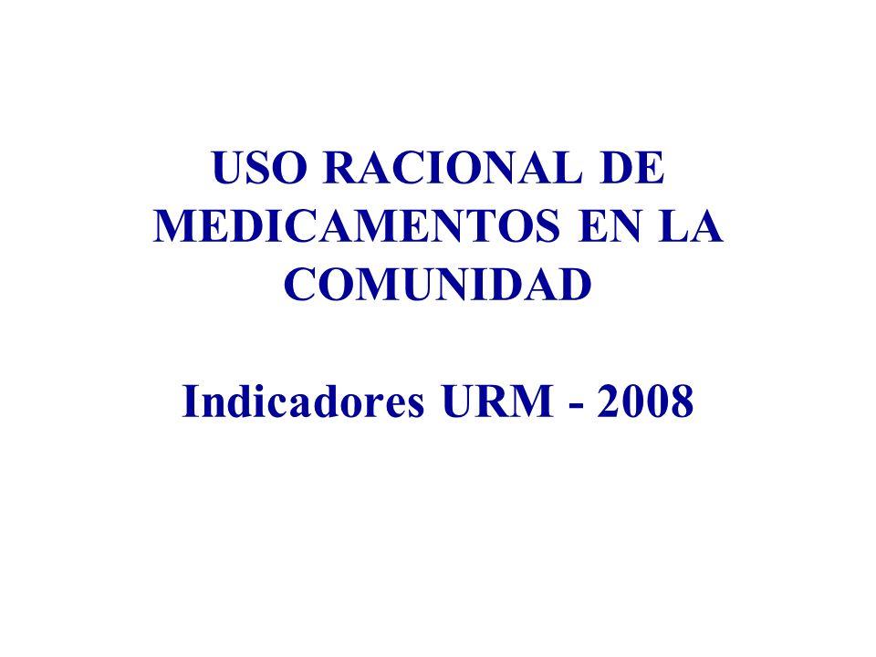 USO RACIONAL DE MEDICAMENTOS EN LA COMUNIDAD Indicadores URM - 2008