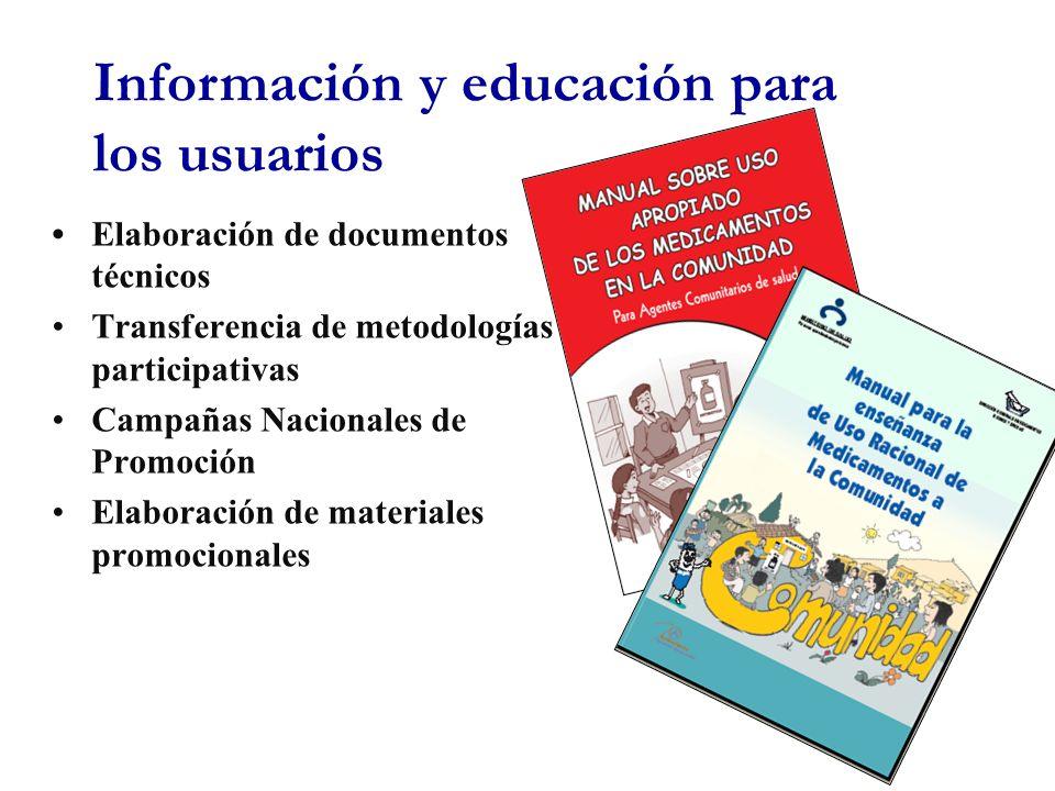 Información y educación para los usuarios