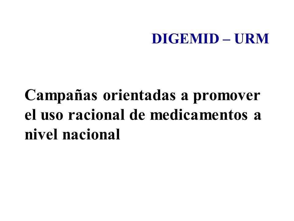 DIGEMID – URM Campañas orientadas a promover el uso racional de medicamentos a nivel nacional 34