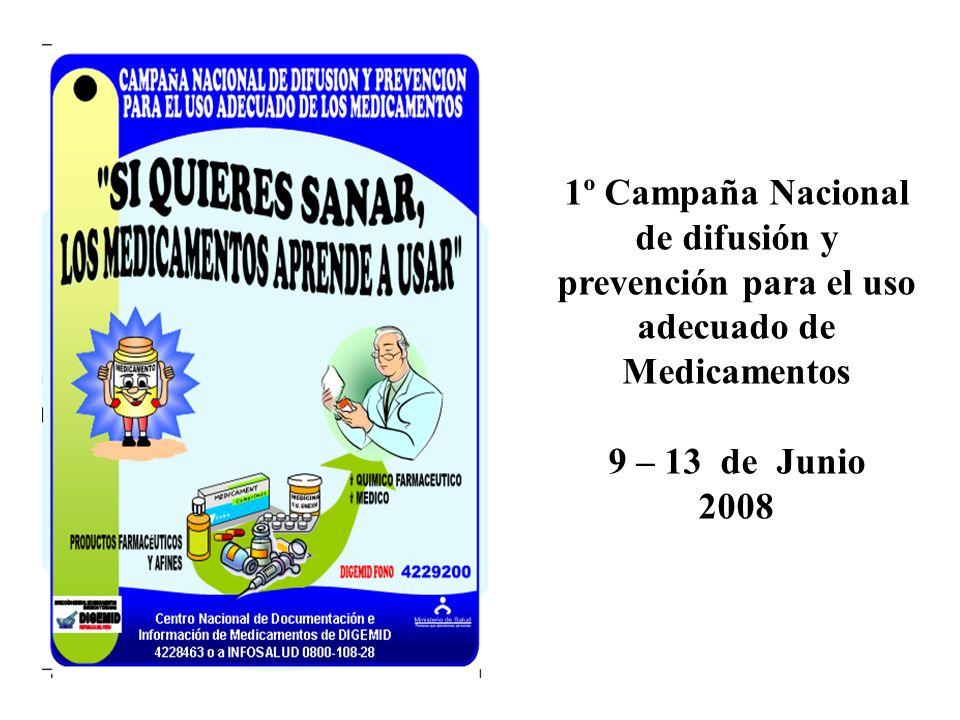 1º Campaña Nacional de difusión y prevención para el uso adecuado de Medicamentos