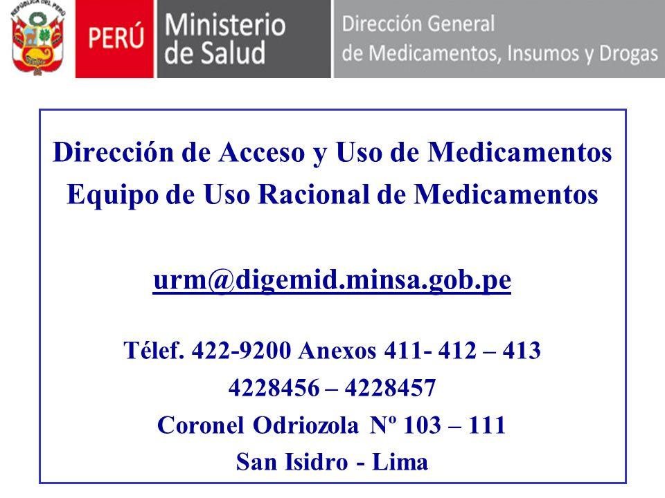 Dirección de Acceso y Uso de Medicamentos