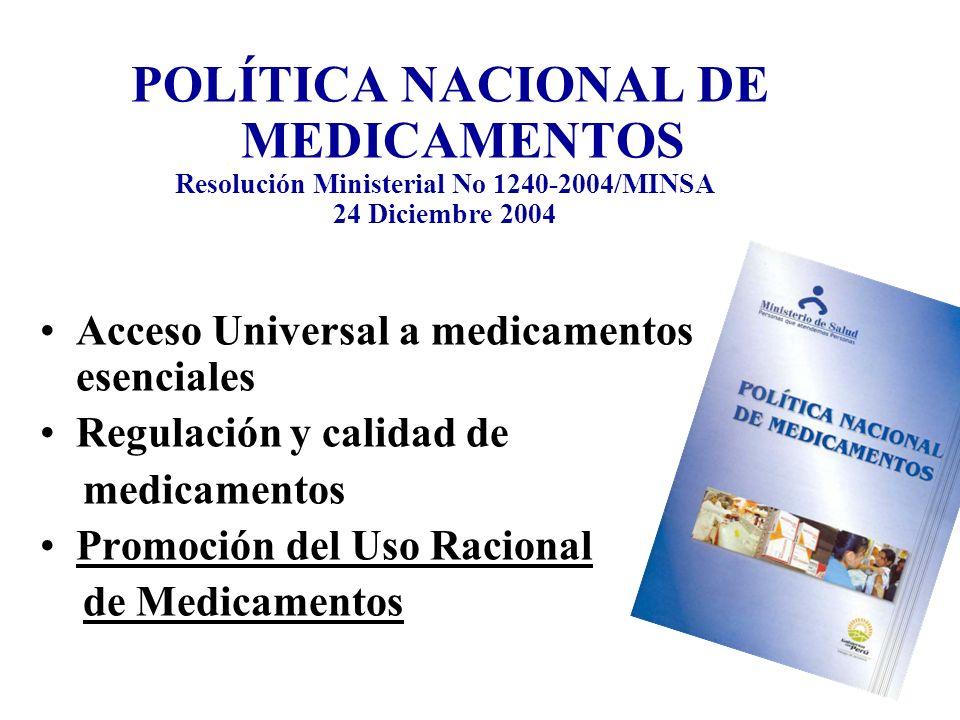 Resolución Ministerial No 1240-2004/MINSA