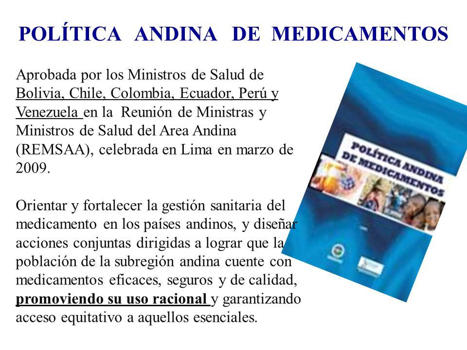 POLÍTICA ANDINA DE MEDICAMENTOS