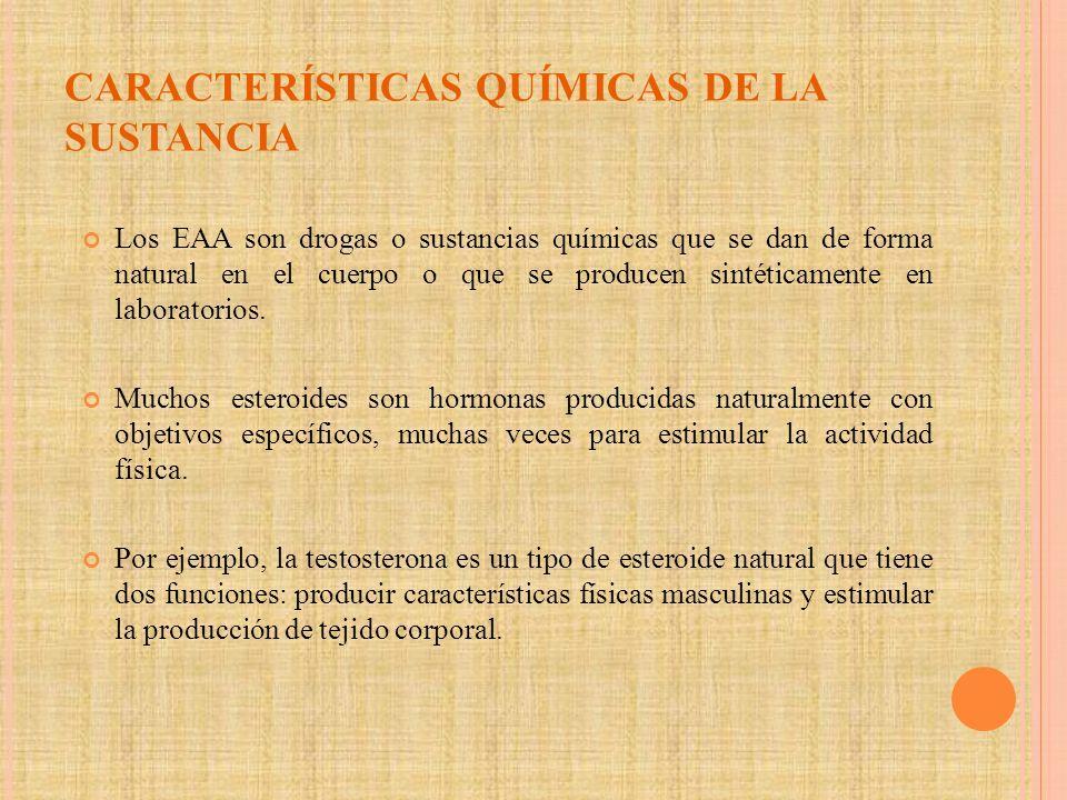 CARACTERÍSTICAS QUÍMICAS DE LA SUSTANCIA