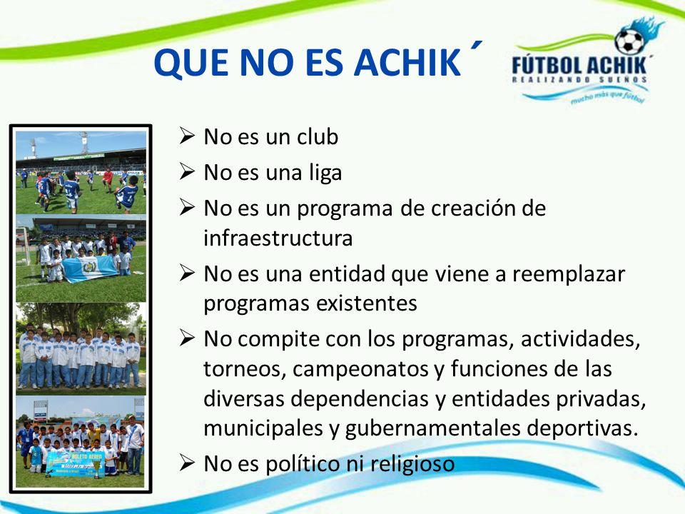 QUE NO ES ACHIK´ No es un club No es una liga