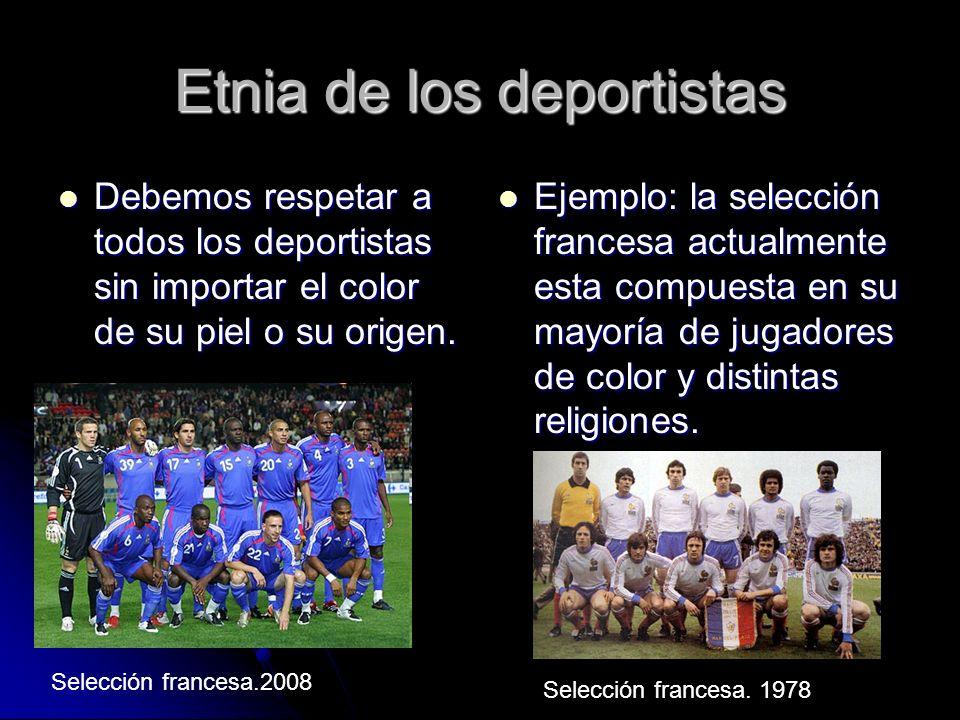 Etnia de los deportistas