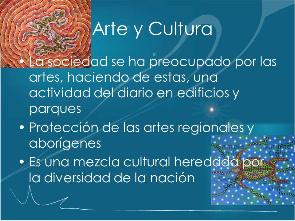 Arte y Cultura La sociedad se ha preocupado por las artes, haciendo de estas, una actividad del diario en edificios y parques.