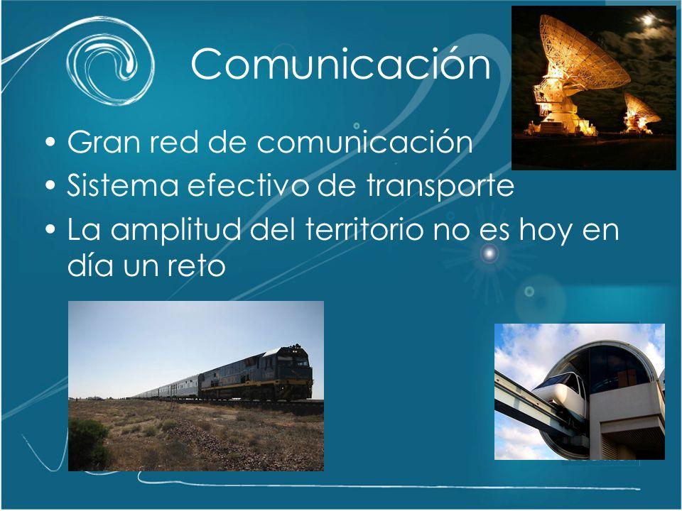 Comunicación Gran red de comunicación Sistema efectivo de transporte