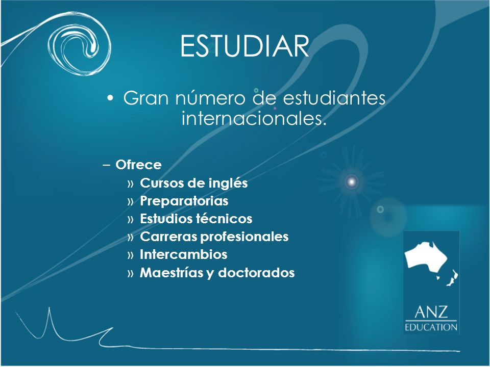 Gran número de estudiantes internacionales.