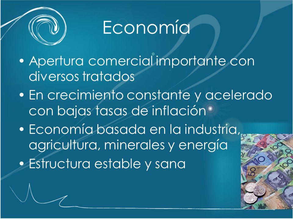 Economía Apertura comercial importante con diversos tratados