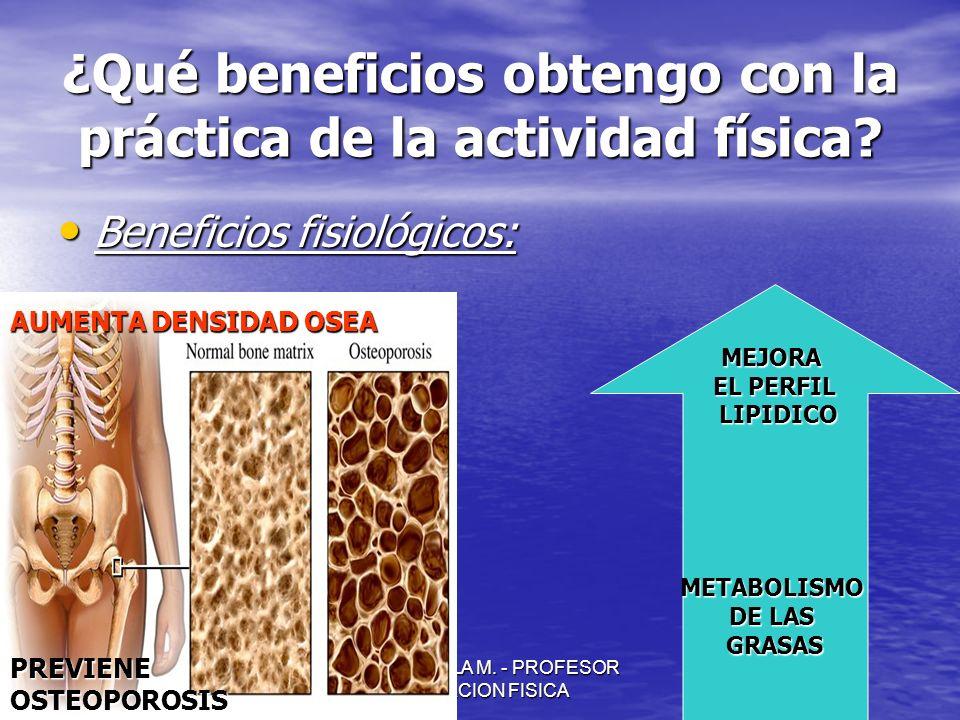 ¿Qué beneficios obtengo con la práctica de la actividad física