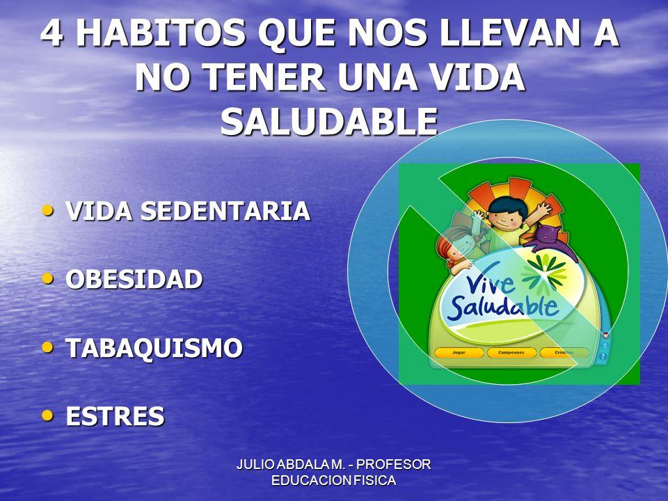4 HABITOS QUE NOS LLEVAN A NO TENER UNA VIDA SALUDABLE