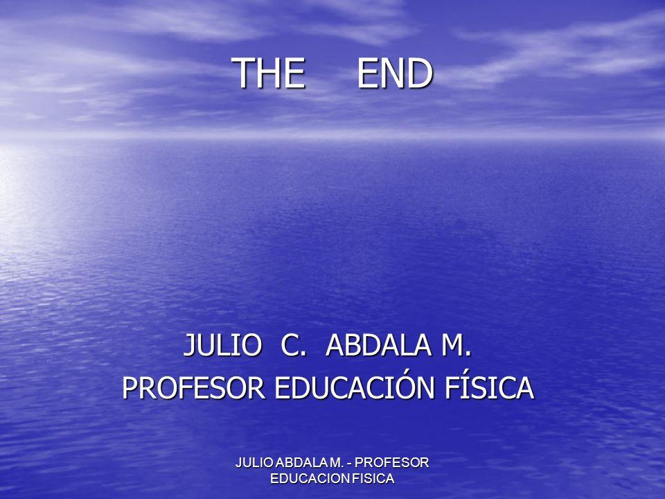 THE END JULIO C. ABDALA M. PROFESOR EDUCACIÓN FÍSICA