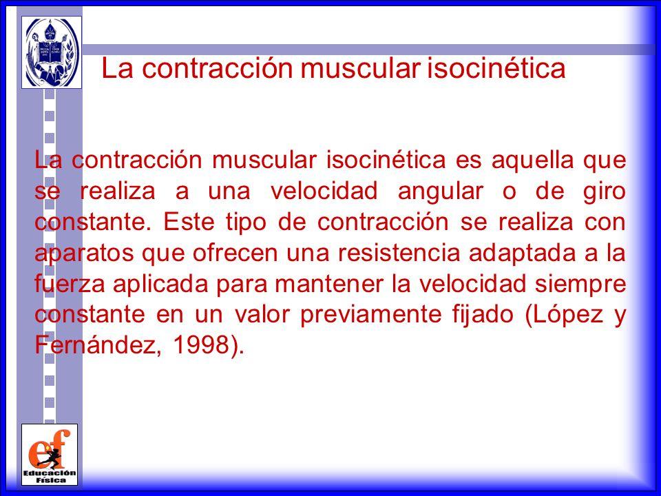 La contracción muscular isocinética
