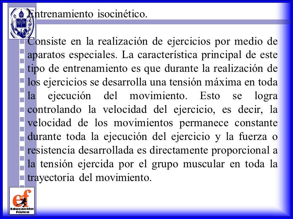 Entrenamiento isocinético.