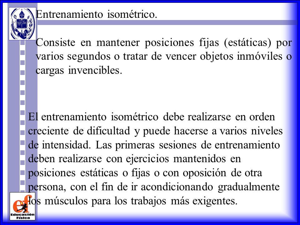 Entrenamiento isométrico.
