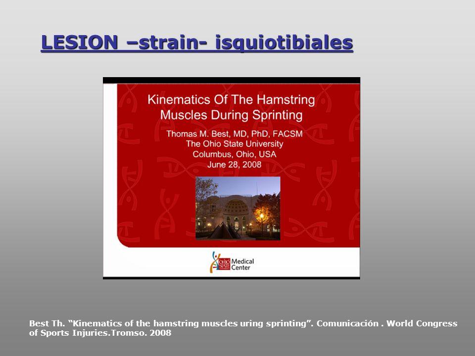 LESION –strain- isquiotibiales