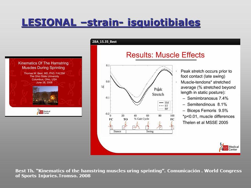 LESIONAL –strain- isquiotibiales