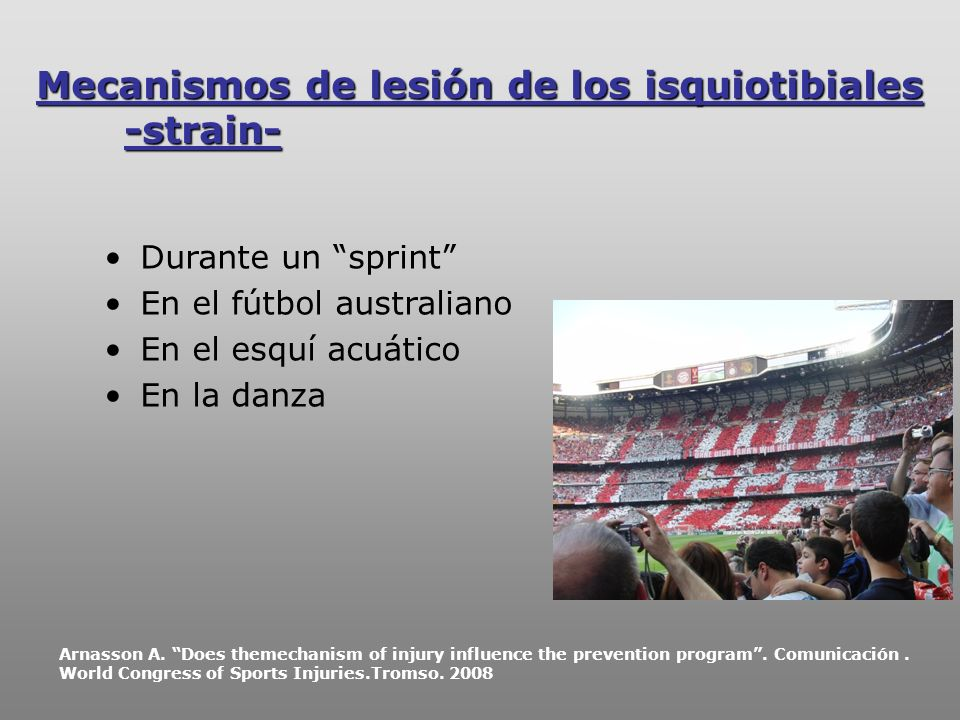 Mecanismos de lesión de los isquiotibiales -strain-