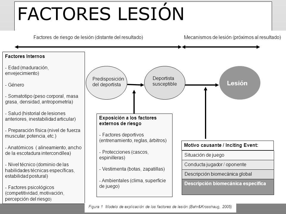 FACTORES LESIÓN Lesión