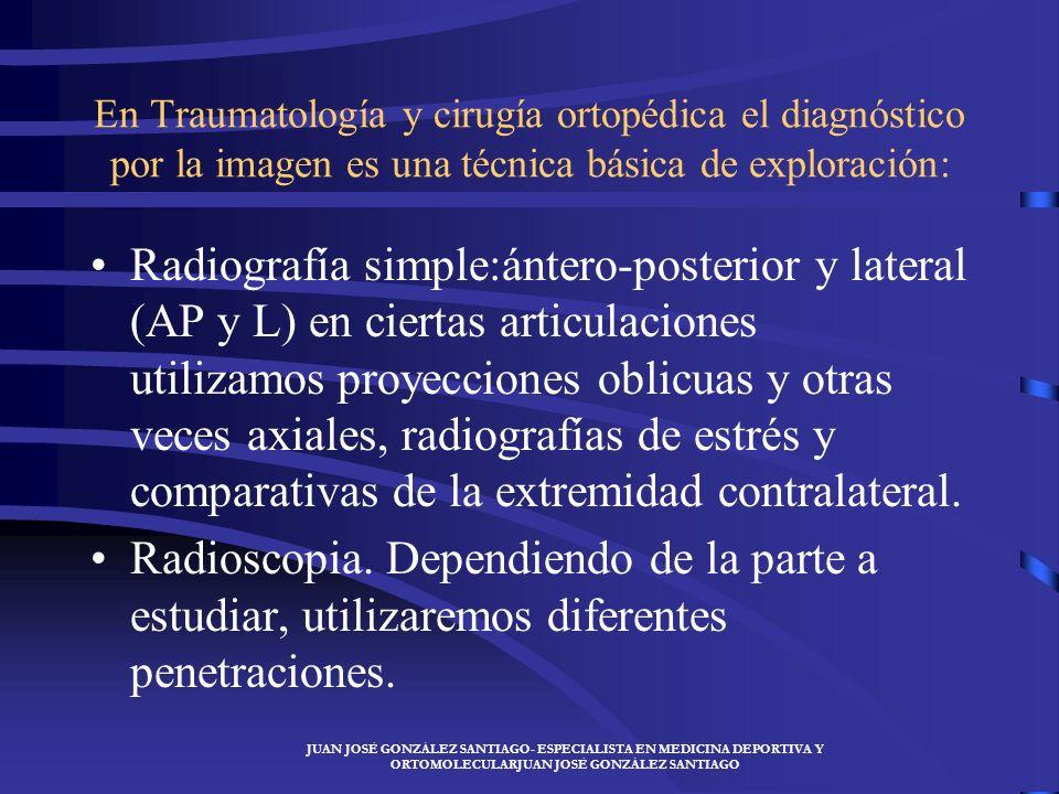 En Traumatología y cirugía ortopédica el diagnóstico por la imagen es una técnica básica de exploración: